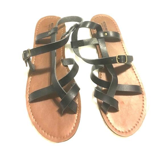 7e669aa8655 Gladiator sandals Target Black 9M Mossimo flats